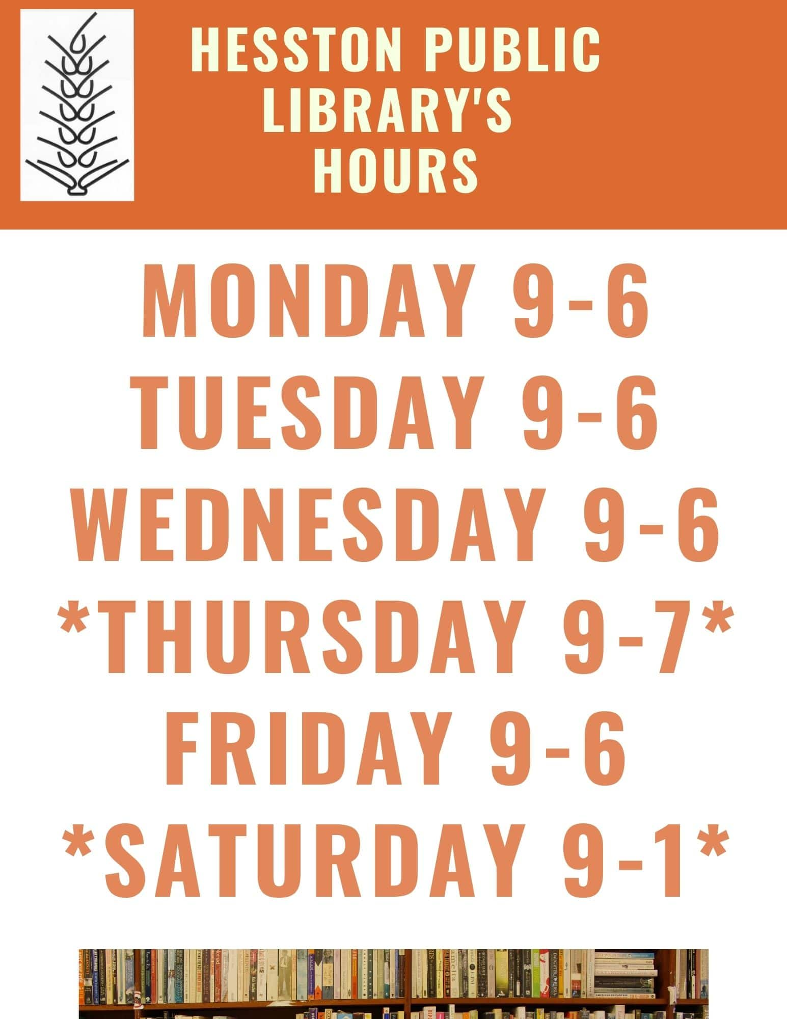 New Hours Starting April 1